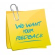 Постер, плакат: We want your feedback memo post