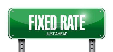 Photo pour Illustration de signe de taux fixe sur fond blanc - image libre de droit