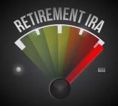 Odchod do důchodu ira rychloměr ilustrace