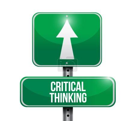 critical thinking street sign illustration