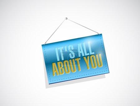 Photo pour Son tout au sujet de vous accrocher la conception d'illustration de signe de bannière au-dessus d'un fond blanc - image libre de droit