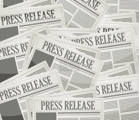 press release newspaper illustration design