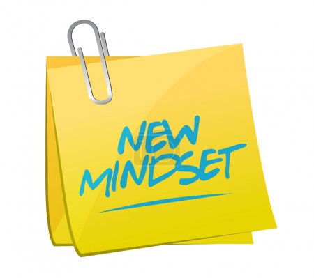 Photo for New mindset memo post illustration design over a white background - Royalty Free Image
