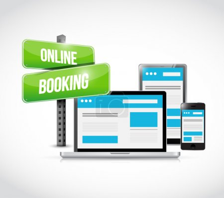 online booking sign technology concept
