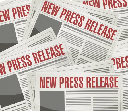 new press release illustration design