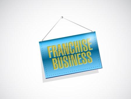 Photo pour Entreprise franchisée pèse conception illustration bannière sur fond blanc - image libre de droit