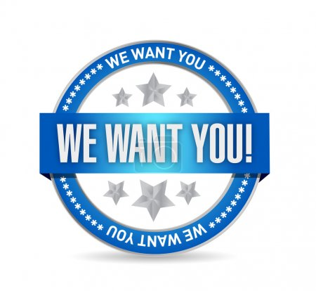 we want you seal illustration design