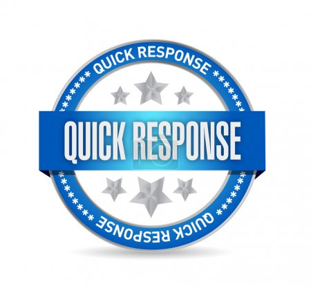 Quick response seal illustration design