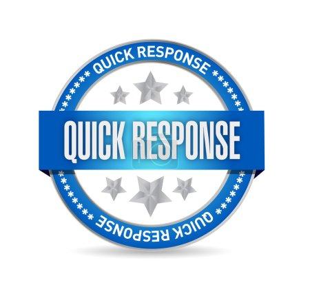 quick response seal illustration design