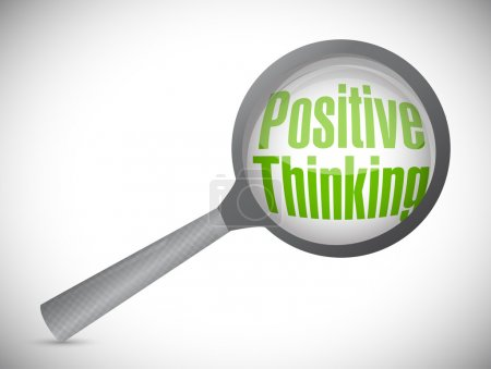 positive thinking under review illustration design