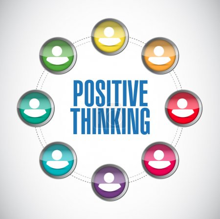 Photo for Positive thinking people diagram illustration design over a white background - Royalty Free Image