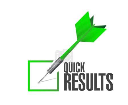 quick results check dart illustration