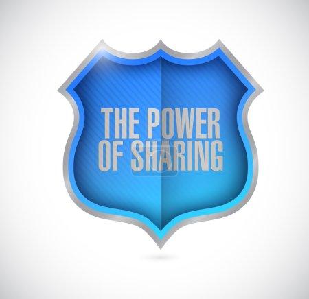 the power of sharing shield illustration