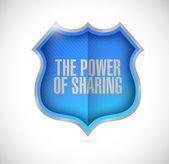 Síla sdílení štít ilustrace