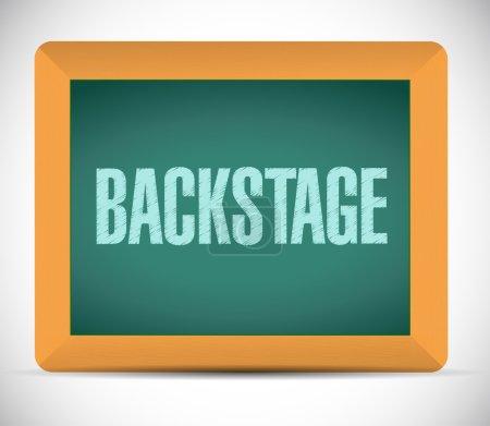 backstage board sign illustration design