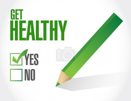 get healthy check mark illustration design