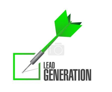 Photo pour Conception illustration de fléchettes de contrôle de génération de plomb sur un fond blanc - image libre de droit