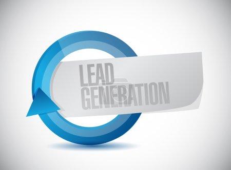 lead generation cycle illustration design