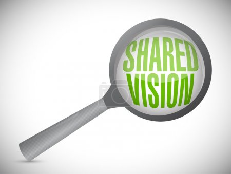 shared vision magnify glass illustration design