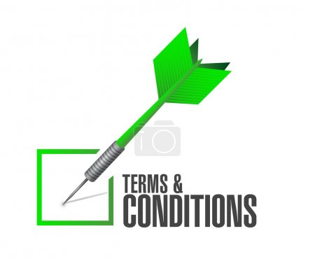 terms and conditions check dart illustration