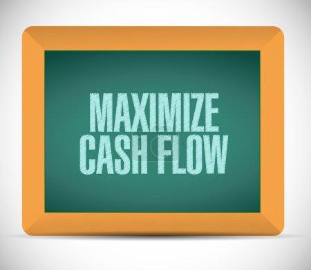 maximize cash flow board sign illustration