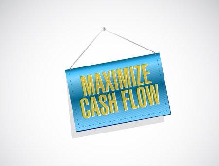 Photo pour Optimiser la conception de flux de trésorerie bannière signe illustration sur fond blanc - image libre de droit