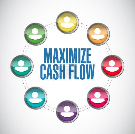 Photo pour Maximize cash flow contacts illustration design over white - image libre de droit