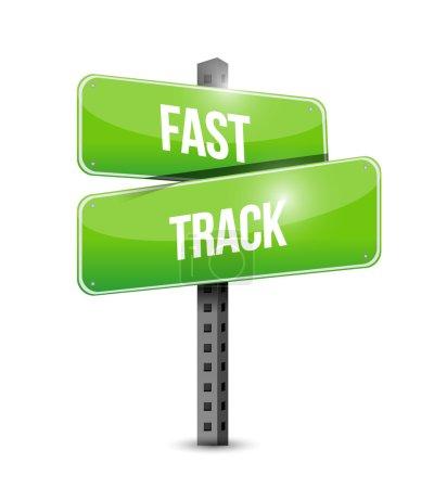 Photo pour Conception d'illustration de concept de signe de route de voie rapide au-dessus du blanc - image libre de droit