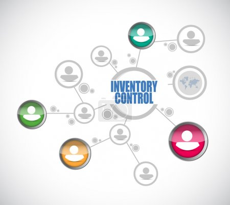 inventory control people diagram sign concept