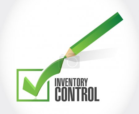 inventory control check mark sign concept