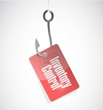 inventory control hook tag sign concept