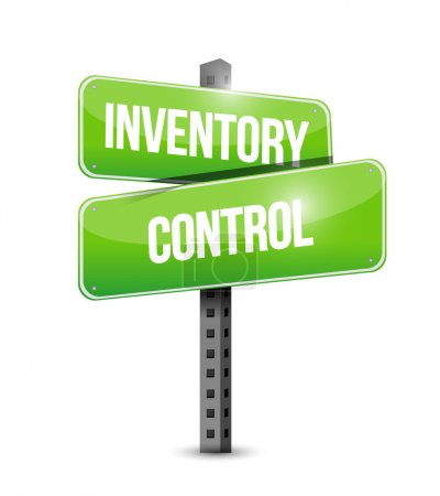 inventory control road sign concept