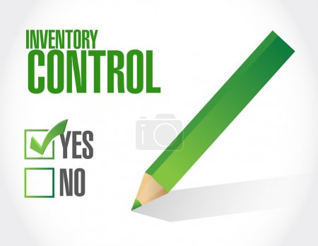 inventory control approval sign concept