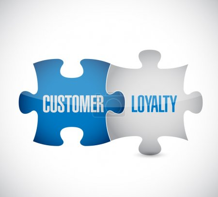 customer loyalty puzzle pieces sign concept