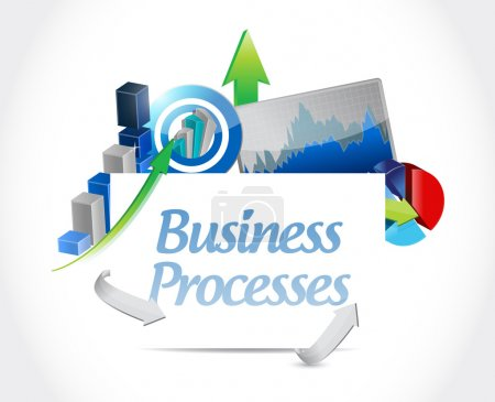 Business processes chats sign concept