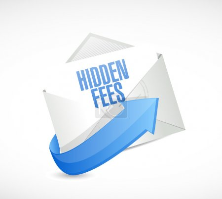 hidden fees mail sign concept illustration
