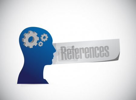 References head sign concept