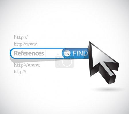 References search bar sign concept