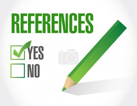 references check list sign concept illustration
