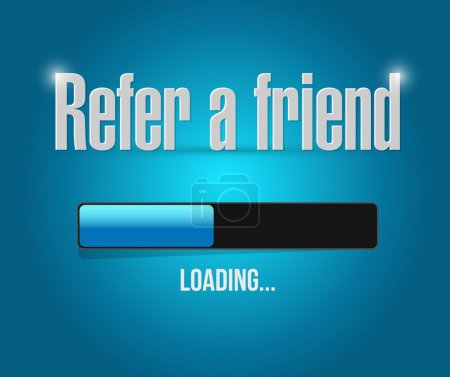 refer a friend loading bar sign concept