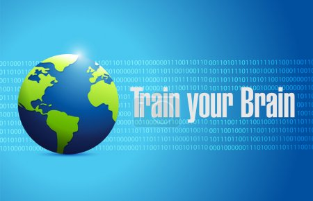 Train your brain international sign concept
