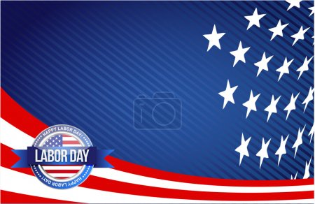 labor day seal sign illustration design graphic