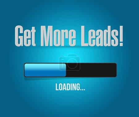Get More Leads loading bar sign illustration