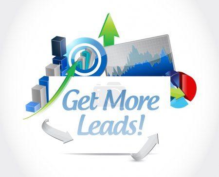 Get More Leads business graph sign illustration