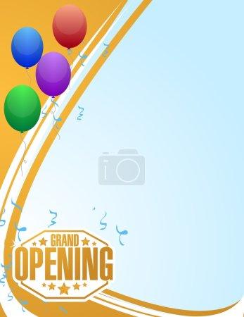 grand opening celebration balloons background