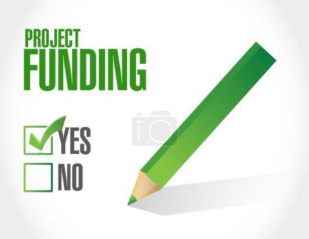 Photo pour Projet Financement approbation signe concept illustration conception graphique - image libre de droit