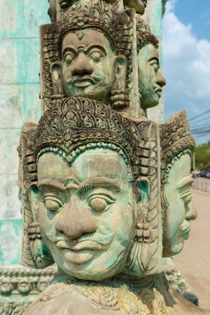 Khmer statues in temple in Siem Reap, Cambodia