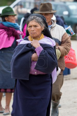 Woman from the Mestizo ethnic group in Otavalo, Ecuador
