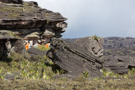 Campsite on top of Mount Roraima