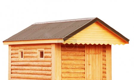 Tool shed, new log cabin to backyard or utility storage barn - isolate